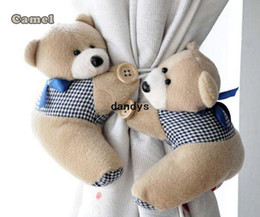 Wholesale Pair Window Curtain Hook Tieback Cute Bear Curtain Buckle Hangers Belt dandys