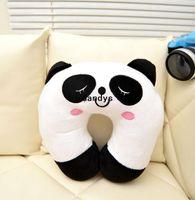 Wholesale Cute Cartoon Panda Pattern Design Travel car home pillow U shape Neck pillow rest pillow dandys