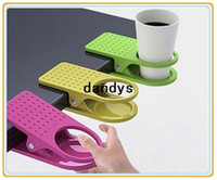 Wholesale New Arrival Office Table Desk Drink Coffee Cup Holder Clip Drinklip Random Color dandys