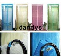 Wholesale Fly Screen Door Curtain Net Magnetic Stripe Mesh Prevent Mosquito dandys