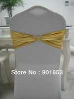 Wholesale shining gold chair sash with plastic buckle