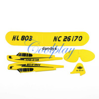 Wholesale set fuselage for Sea gull RTF CH HL803 rc airplane EPP material rc glider HL803 body dandys