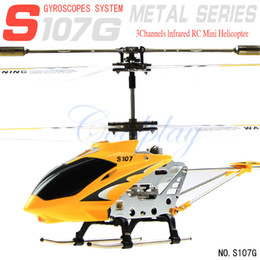 Wholesale cardboard box Syma S107g Channel Mini Indoor Co Axial Metal RC Helicopter w Built in Gyroscope dandys