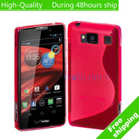 Wholesale High Quality Soft TPU Gel S line Skin Cover Case For Motorola Droid Razr HD Fighter XT926 DHL EMS HKPAM CPAM FG