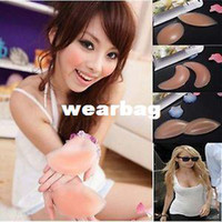 Wholesale 1pair pair Freebra Silicone Nu Bra Inserts Push Up Breast Pad Bikini Enhancer A B C Style