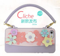 Wholesale 5 bag of silica gel coat Apple iphone5 iphone4s phone shell protective shell pastoral Floral