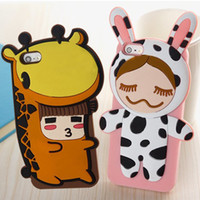 For Apple iPhone Metal Pear doll Moe pear cartoon baby doll iphone4s 5s silicone sets of mobile phone shell shock drop resistance cows
