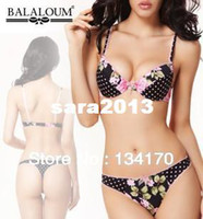 Bra Sets Normal Three Quarters(3/4 Cup) S14 New 2014 sexy bra set Embroidery VS flower print Padded Bust bralet triumph lace brassiere sutias ropa sexy lingerie women