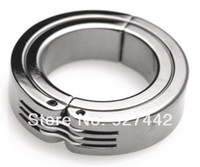 Steel Penis Rings stainless steel stainless steel Scrotum Stretchers Scrotum ring metal Locking Hinged Cock Ring CBT Ball Stretchers Chrome Finish