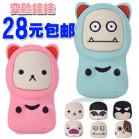 For Apple iPhone Metal Apple phone shell Korea iphone4 4s stereo cute silicone phone case protective sleeve doll face doll face transplant