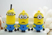 Wholesale 3 Kind gb gb gb gb gb Cartoon Minions Toy Model USB Memory Stick Flash Pen Drive thumb drive usb stick udisk