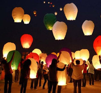 Sky Lantern Holiday  Fedex Free Shippng Mix Color Kongming Wish Paper Lantern Lights Candle Lamps Wedding Xmas Halloween Party Balloons Sky lantern