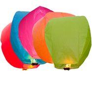 2000pcs Fedex shippng gratuit Mix Couleur Kongming souhaits lanterne de papier Lumignons Lampes mariage Xmas Party Halloween Ballons Sky lanterne