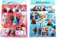 Wholesale Kids Cute Cartoon Frozen Decoration Wall Stickers flat Stikers Plan Sticker