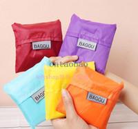 japan - MOQ Japan BAGGU square pocket Shopping bag min order many colors available Eco friendly reusable folding handle Fast Ship