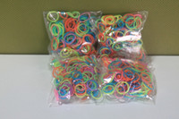 8-11 Years Multicolor Silicone rainbow Loom Rubber Bands - 300 pc Glow in The Dark Rubber Band 100% Bracelet