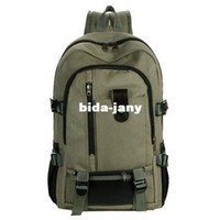 Wholesale 2014 New Normal Camping Hiking Military Outdoors Travel Canvas Backpacks School Bags For Men HB53