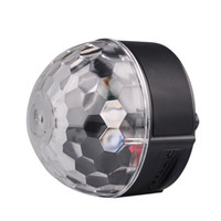 Wholesale DMX Remote Control Digital LED RGB Crystal Magic Ball With Magic Ball Speaker Audio USB Cable Remote Control