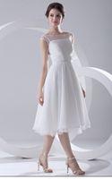Wholesale Designer new white chiffon short wedding dresses Scoop Necklines wedding dress bridal wedding dresses
