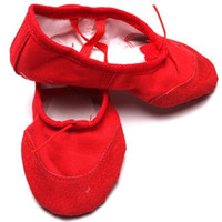 Wholesale 1pair Canvas Dance Ballet Shoes for Big Kid
