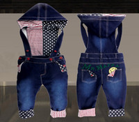 EMS Hot Selling Children Pants Fashion Unisex Denim Overalls...