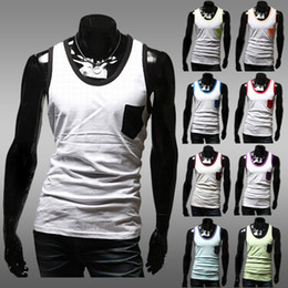 Wholesale Fashion Casual Cotton Tank Top Men Undershirt Tank Top Shirt Q0586