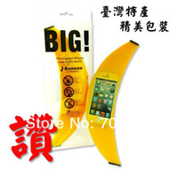 For Apple iPhone Silicone Case 1pcs retail 2013 new arrival silicone big banana case for iphone 5 free shipping