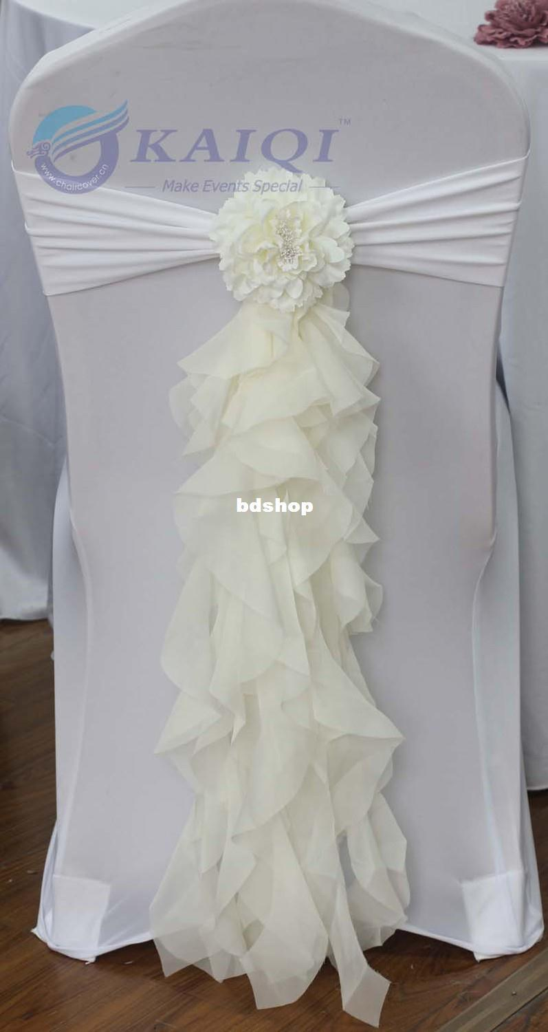 Sale Hot Sale Ivory Chiffon Chair Sash With Tie For Wedding Party Banquet Decoration Chair