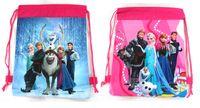Wholesale 90pcs Drawstring Cartoon Frozen Backpack Kids School Bag Sports Handbag Children Party Gift