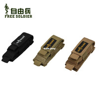 Wholesale Outdoor w5 set molle multifunctional glove tactical bag combination set flashlight sleeve