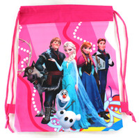best cartoon drawings - personality frozen girl Draw string children School bag backpack best XMAS GIFT