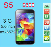 Wholesale S5 Dual Core Android Cell Phone MTK6572W GHZ GB RAM GB ROM With Inch IPS Screen Air Gesture G Phone Chinapost