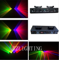 Wholesale 360mW RGYP Party Disco Stage Laser Light Lens DMX512 DJ Stage Laser Light