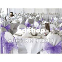 Wholesale cm Home Wedding Patry Banquet Decor Organza Chair Sashes Bow Cover Sashes Decoration Gauze