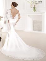 Cheap Trumpet/Mermaid wedding dress Best Reference Images One-Shoulder wedding dresses