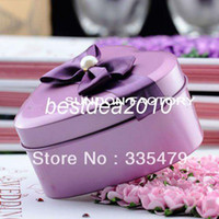 Wedding Event & Party Supplies Yes Fedex Free shipping Wholesale European Style Wedding Metal Tin Favor Box with Bow Tie,Mint Tin, -0798