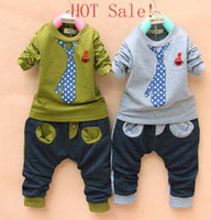 boys clothes - HOT Sale Spring Boys Suit Leisure Fashion Children Boys Tie Printed Long Sleeve Shirt Long Pants Sets Boys Clothes