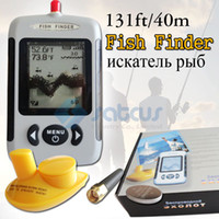 Wholesale Russian Menu Language LUCKY LCD Portable Wireless Sonar Sensor River Lake Sea Bed Live Update Contour ft M Fishfinder Fish Finder