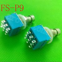 La caja del pedal de los efectos de la guitarra de 10pcs 9-pin 3PDT golpea con el pie el interruptor verdadero del metal del pie