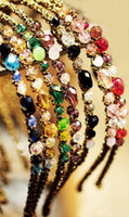Headbands Red South American New Women Fashion Exquisite Crystal Rhinestone Barrette Hair Band Hair Accessory