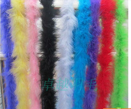 """20Pcs lot 200cm(79"""") Chicken Feather Strip Wedding Marabou Feather Boa 10 colors Available Free Shipping"""
