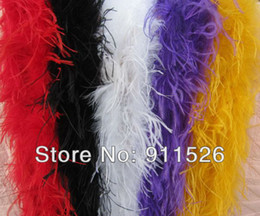 """free shipping 5Pcs lot 200cm(79"""") ostrich Feather Strip Weddingor party Marabou Feather Boa 5 Color selected"""