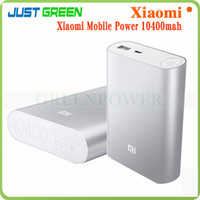 Wholesale 10400mAh power bank Xiaomi Xiao Mi USB Charger External battery For Cell Phone