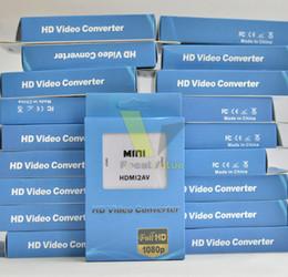 Mini HD Video Converter Box HDMI to AV   CVBS L R Video Adapter 1080P HDMI2AV Support NTSC And PAL Output Free Shipping