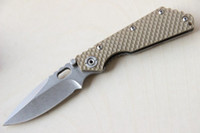 Wholesale New Folding Pocket Knife STRIDER G10 Steel Handle Cr13Mov Blade HRC SMF SNG Stonewashed L