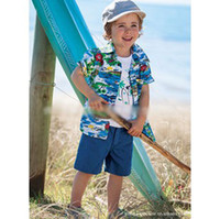 Wholesale 201404 Spring and summer new three piece Hawaiian beach shirts YCX