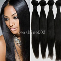 Brazilian Hair Straight  DHL Free Shipping Graed 5A 100% Brazilian Virgin Hair Wefts Unprocessed Remy Hair Weave Silky Straight Can Be Dyed And Bleached 3pcs Lot Nat