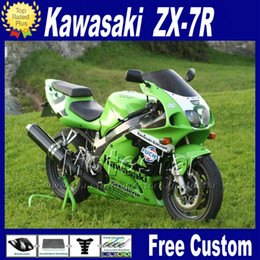 Motorcycle fairings for 1996 - 2003 ZX 7R KAWASAKI Ninja ZX-7R ZX7R 96-01 02 03 green black bodywork fairing kits with 7 gifts WT24