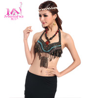 Belly Dancing Zebra-stripe Leather Mesa new costumes belly dance bra tops tribal belly dance bra bra tassel