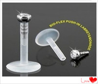 Wholesale CF109 body jewelry acrylic internally threaded lip labret ring lip stud